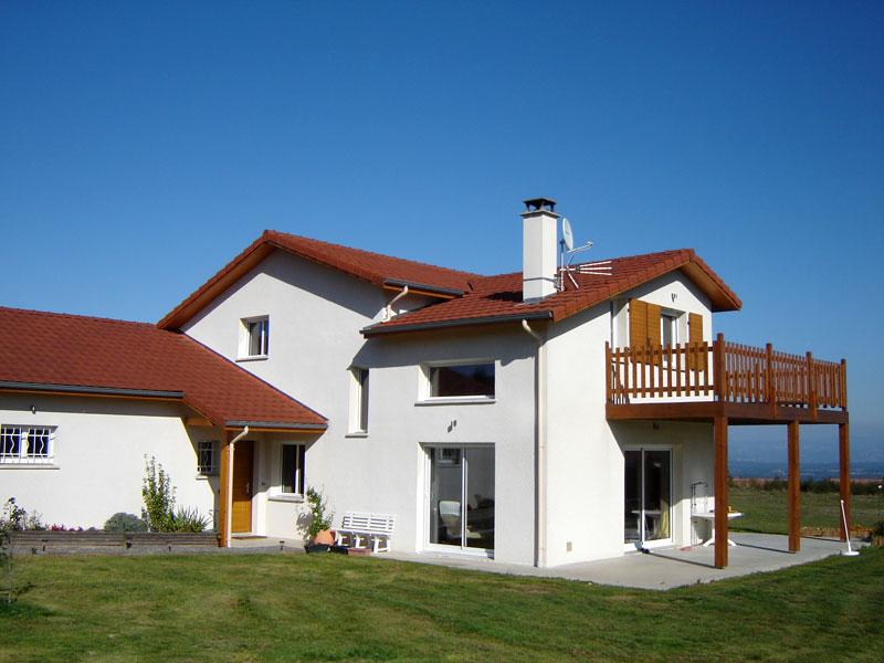 Villa style forézien tout en gardant une touche de modernisme