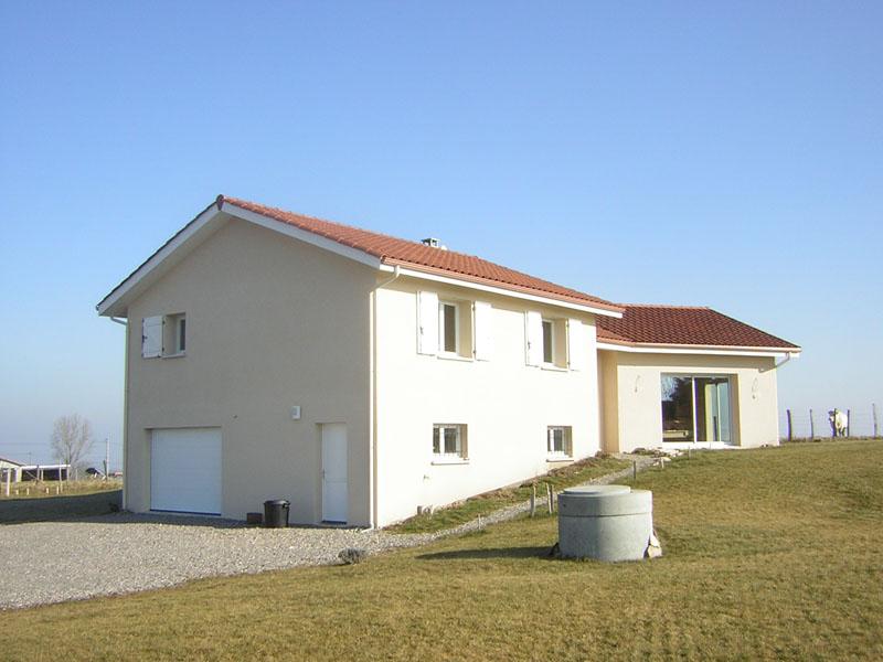 Maison simple demi sous sol