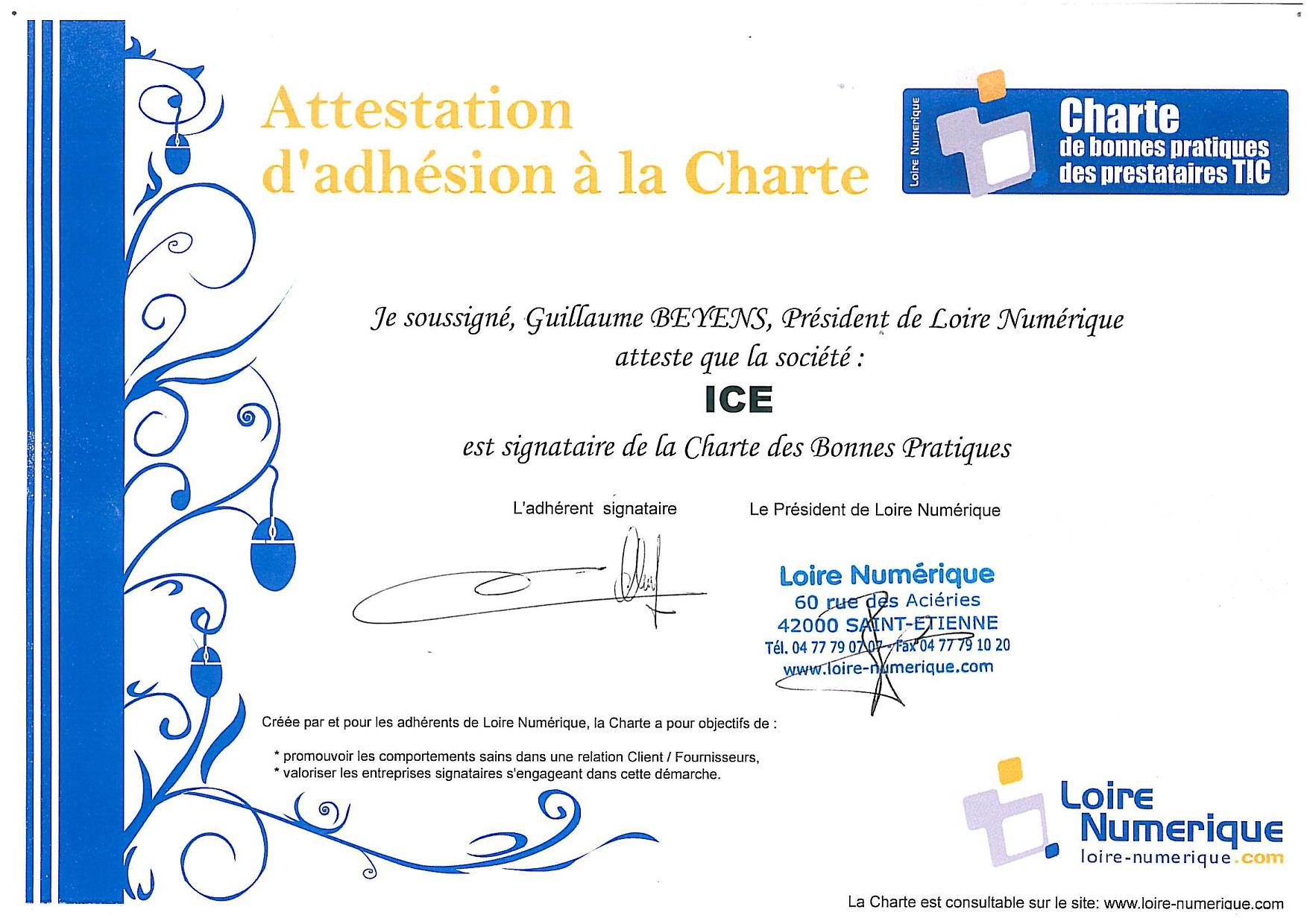 Charte des bonnes pratiques Loire Numérique